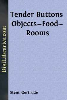 Tender Buttons Objects-Food-Rooms