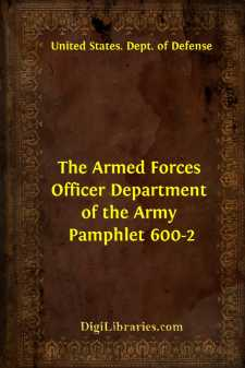 The Armed Forces Officer Department of the Army Pamphlet 600-2