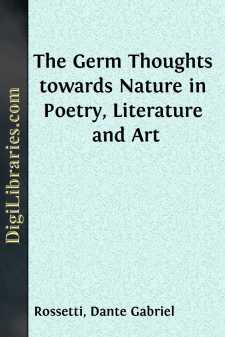 The Germ Thoughts towards Nature in Poetry, Literature and Art