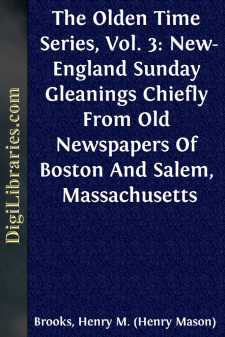 The Olden Time Series, Vol. 3: New-England Sunday