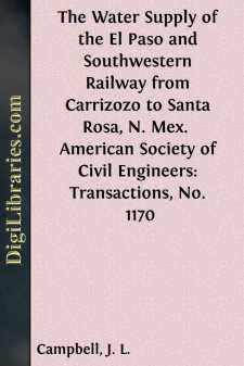 The Water Supply of the El Paso and Southwestern Railway from Carrizozo to Santa Rosa, N. Mex. 