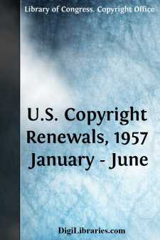 U.S. Copyright Renewals, 1957 January - June