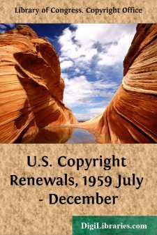 U.S. Copyright Renewals, 1959 July - December