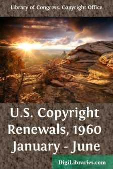 U.S. Copyright Renewals, 1960 January - June