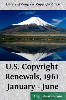 U.S. Copyright Renewals, 1961 January - June