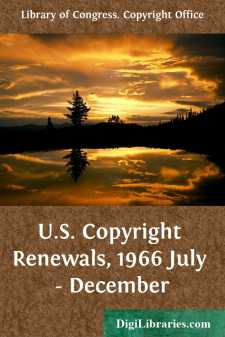 U.S. Copyright Renewals, 1966 July - December
