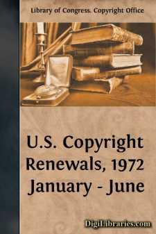 U.S. Copyright Renewals, 1972 January - June