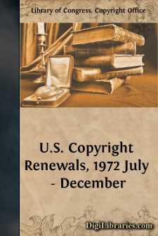 U.S. Copyright Renewals, 1972 July - December