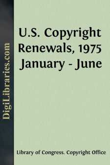 U.S. Copyright Renewals, 1975 January - June