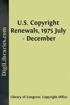U.S. Copyright Renewals, 1975 July - December