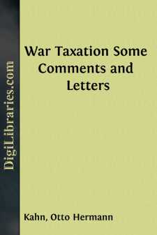 War Taxation Some Comments and Letters