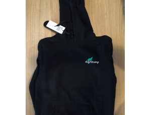 Digistump Embroidered Black Hooded Sweatshirt (Medium)