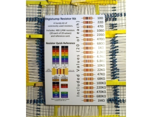Resistor Assortment Kit - 1/4W (400 total)