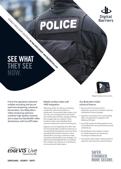 Front page of UK.F.027 BodyWorn for Police