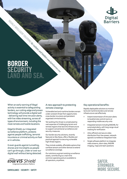 Front page of UK.F.035 Border Security Land and Sea