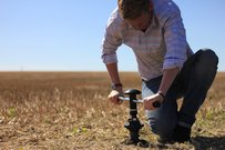 Man deploys ground sensor