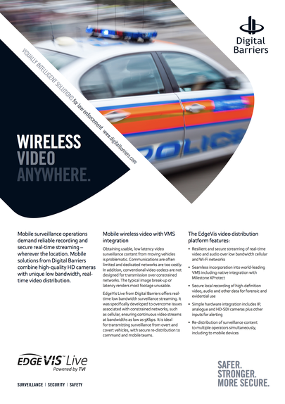 Front page of EdgeVis Live  for law enforcement vehicles