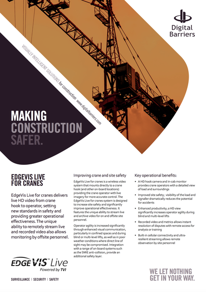 Front page of crane flyer