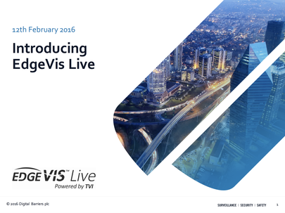 Front page of EdgeVis Live customer information pack