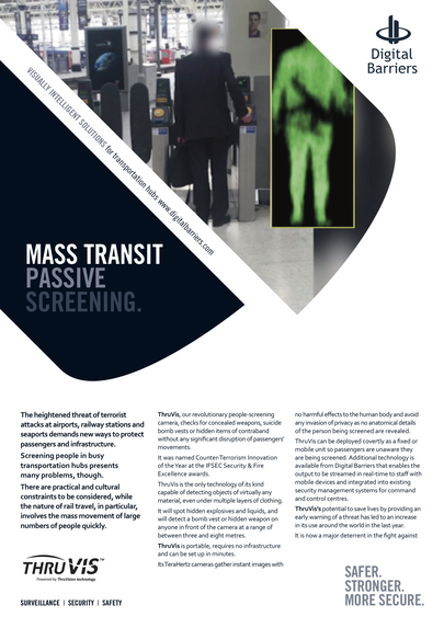 Front page of ThruVis Mass Transit Rail