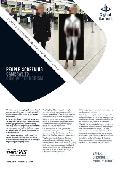 Front page of UK.F.005 Mass Transit Passive Screening - Aviation