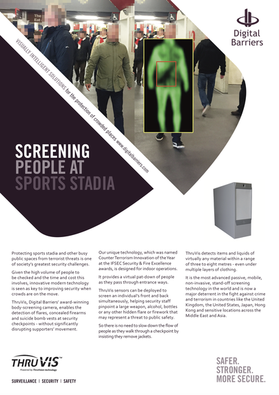 Front page of ThruVis UK.F.048 Football stadium