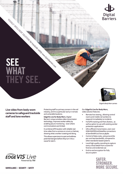 Front page of UK.F.021 trackside safety and lone rail workers
