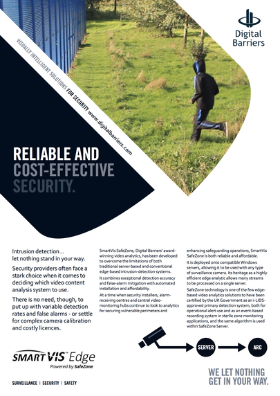 Front page of UK.F.024 Video analytics for security providers SafeZone server