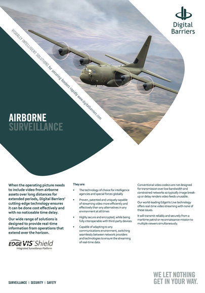 Front page of UK.F.037 airborne surveillance with TVI on board