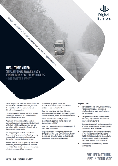 Front page of UK.F.040 connected vehicles