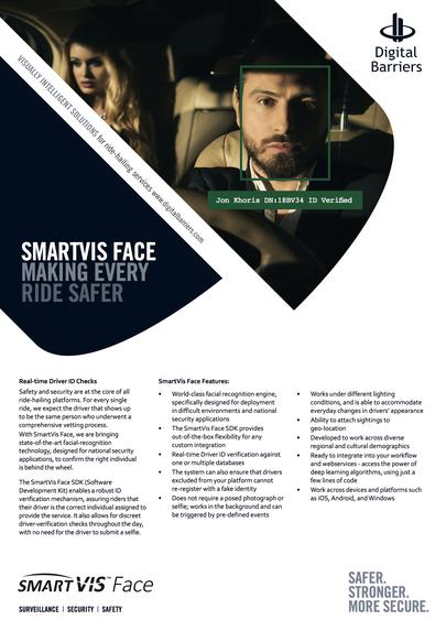Front page of UK.F.053 SmartVis Face SDK identity assurance for passenger safety