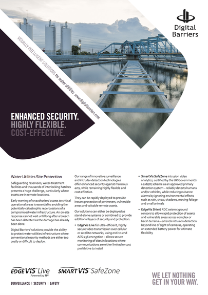 Front page of water utilities protection