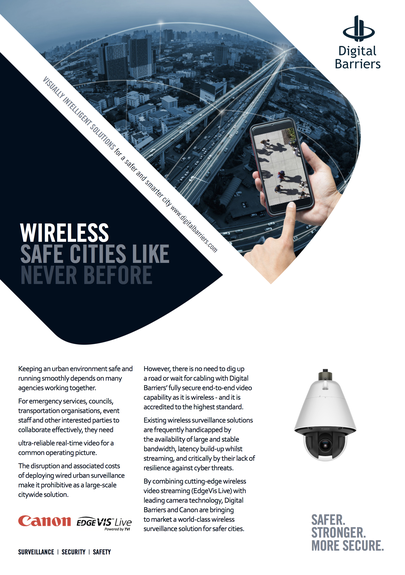 Canon wireless safe cities like never before flyer