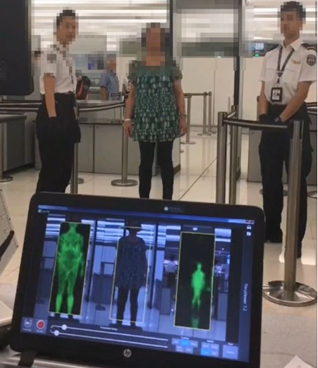 Woman ThruVis airport