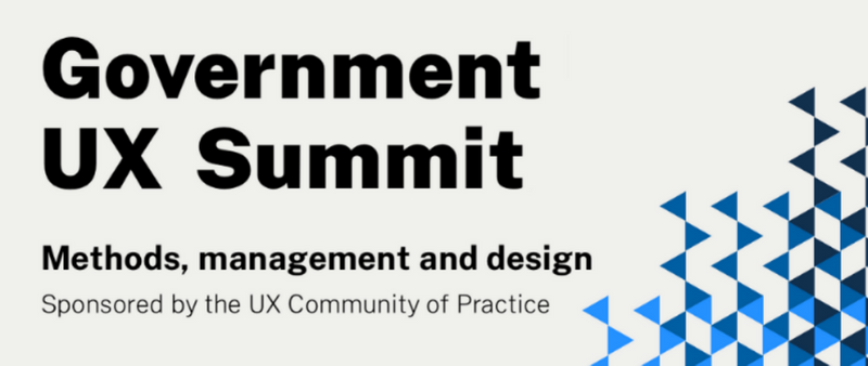 Government UX Summit sponsored by the UX Community of Practice