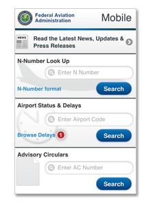 FAA Mobile Website