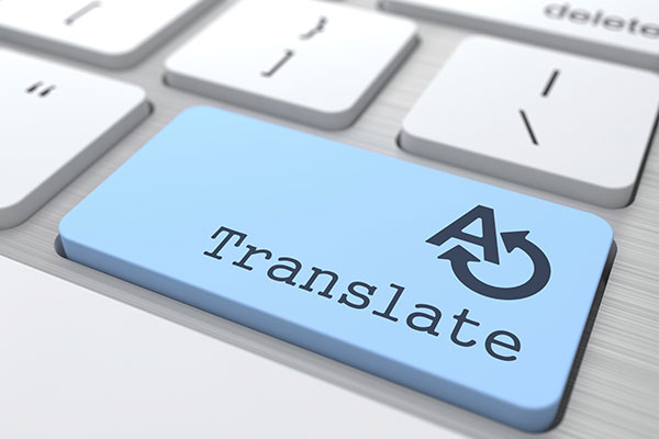 Keyboard key conceptualizes accessible translation