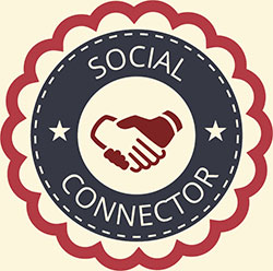 Social Connector icon from gamification concept achievement icons