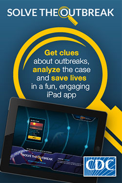 Advertisement for CDC's Solve the Outbreak App