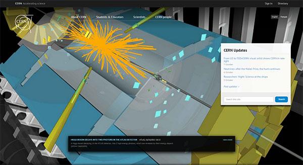 CERN homepage
