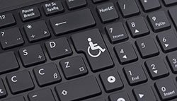 A disabled symbol on a keyboard button