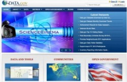 screenshot of Data.gov site
