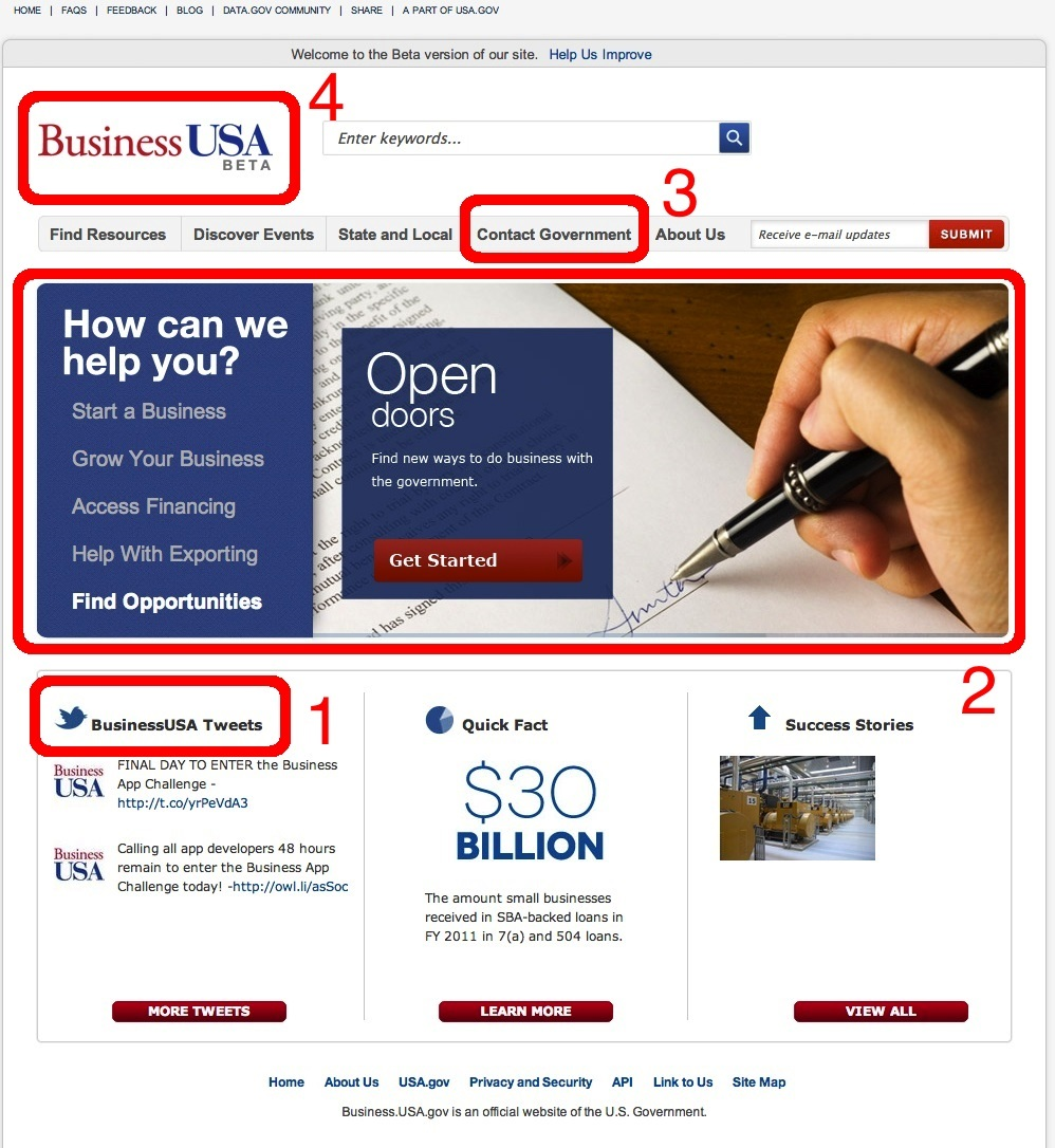 business usa before screen shot