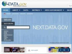 screenshot of Data.gov homepage