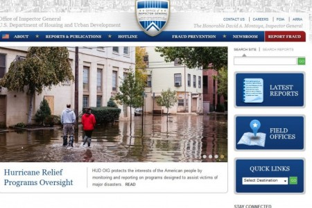 Department of Housing and Urban Development(HUD) has developed a responsive design website for the HUD Office of Inspector General.