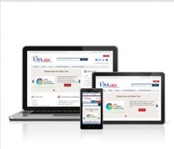 USA.gov website on a laptop, tablet and smartphone