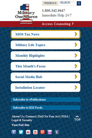 Members of the military and their families now have access to Military OneSource on the go with the new Department of Defense mobile website Military OneSource.