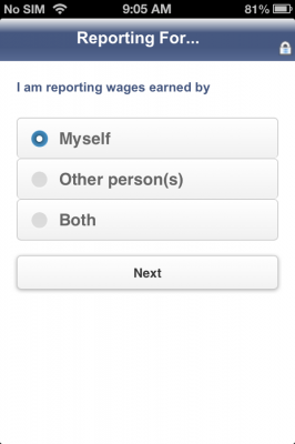 The SSI Mobile Wage app allows SSI recipients and their families to report their monthly wages to Social Security from their finger tips. Consistent monthly wage reporting is a key aspect in preventing improper payments which can lead to SSI over and under payments.