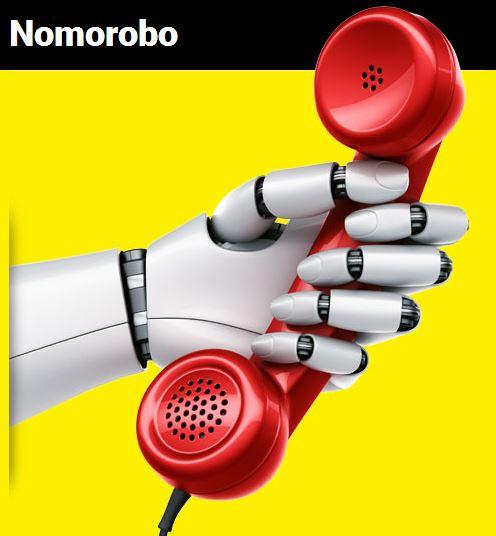 Nomorobo logo of a robot hand holding a telephone.