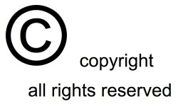 A picture of the copyright symbol
